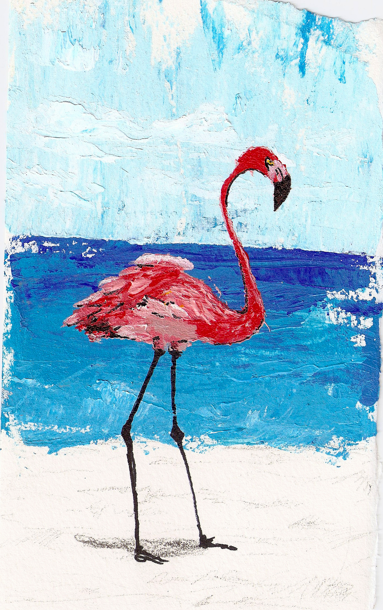Flamingo Painting Acrylic
