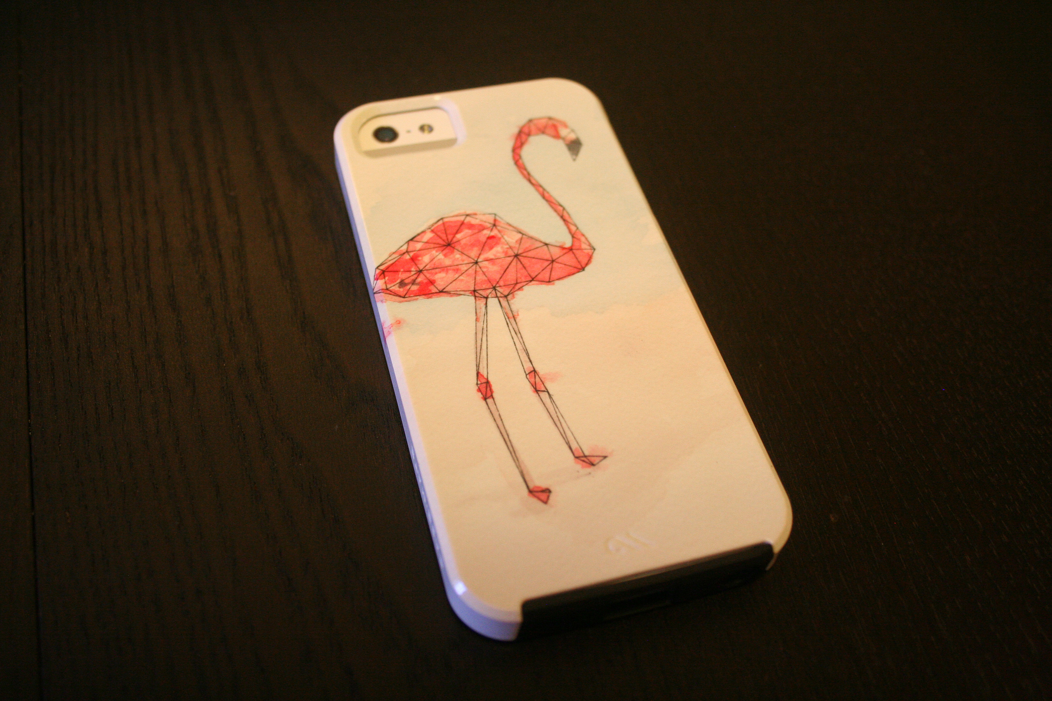Geo Flamingo iPhone Case