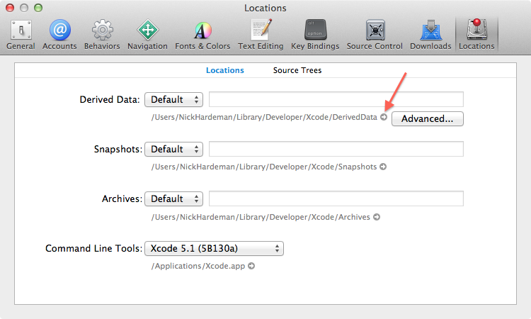 XCode Derived Data Folder