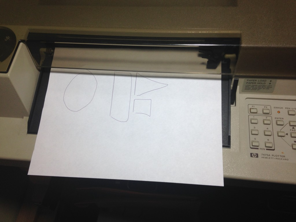 HP7475 Pen Plotter Printing from OpenFrameworks